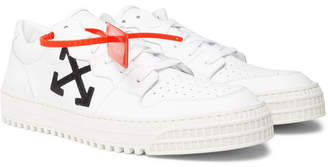 Off-White 3.0 Polo Suede-Trimmed Leather Sneakers