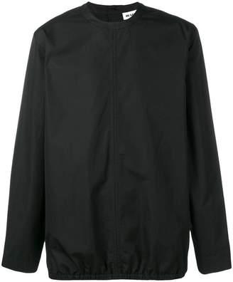 Jil Sander collarless back buttoned shirt
