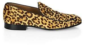 9323cccc1d5 Gianvito Rossi Men s Leopard Print Leather Loafers