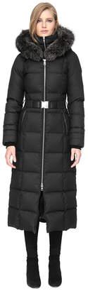Soia & Kyo MARIANA-FX slim-fit maxi-length brushed down coat