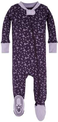 Burt's Bees Baby Dusty Dandelion Organic Zip Up Footed Pajamas