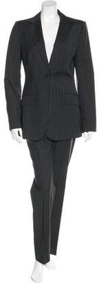 Dolce & Gabbana Pinstripe Virgin Wool Pantsuit $195 thestylecure.com