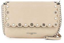 Karl Lagerfeld Paris Elsa Scalloped Saffiano Leather Crossbody Bag