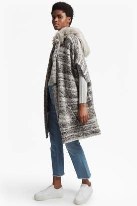 French Connection Irma Melange Knit Long Sleeved Cardigan Coat
