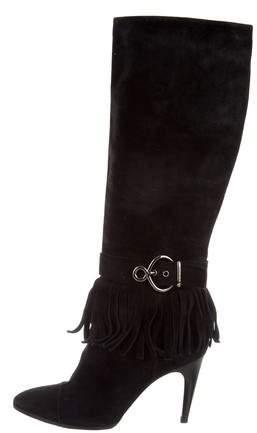Louis Vuitton Fringe Knee-High Boots