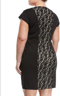 Alexia Admor Plus Lace-Front Sheath Dress, Plus Size