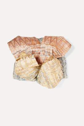 Missoni Metallic Crochet-knit Turban - Beige