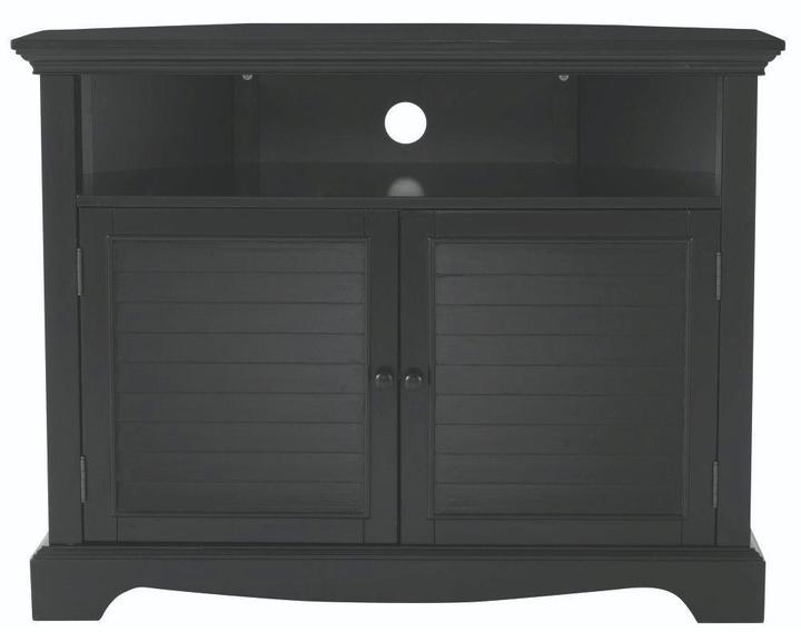 Home Decorators Collection Charlotte 40 in. W Corner TV Stand in Black
