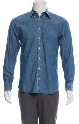 Suitsupply Chambray Button-Up Shirt