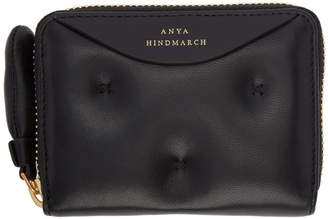 Anya Hindmarch Black Small Chubby Zip Round Wallet