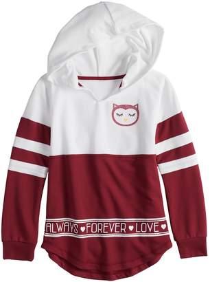 Miss Chievous Girls 7-16 & Plus Size Long Sleeve Colorblock Hoodie Sweatshirt