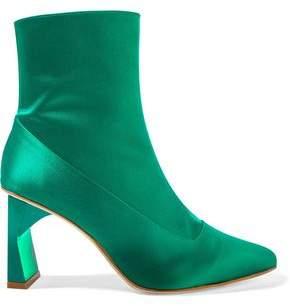 Tibi Satin Ankle Boots