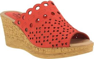 Spring Step Leather Slide Sandals - Nava