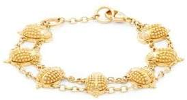 Temple St. Clair Yellow Gold & Diamond Scarab Charm Bracelet
