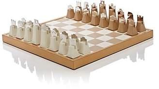 Barneys New York Leather & Chrome Chess Set - Neutral