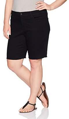 NYDJ Women's Plus Size Briella Short with Fray Hem