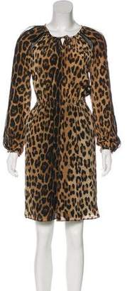 Altuzarra Sasa Leopard Print Knee-Length Dress