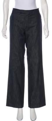 Giamba Mid-Rise Wide-Leg Jeans
