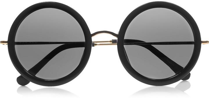 The Row Acetate and metal teashade sunglasses