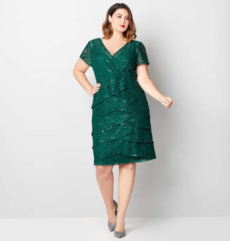 Avenue Tiered Lace Empire Dress