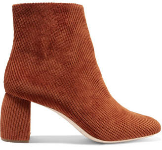 Loeffler Randall Cooper Corduroy Ankle Boots - Brown
