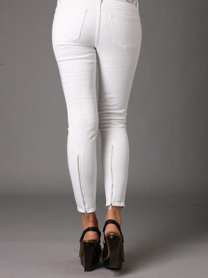 Blank Skinny Zip Jeans