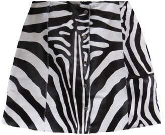 VEIL LONDON - Zebra Print Calf Hair Skirt