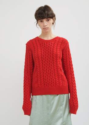 Sies Marjan Britta Cotton Cable Knit Sweater