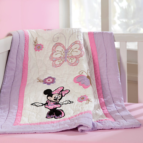 Disney Minnie Mouse Quilt for Baby - Heirloom - Personalizable