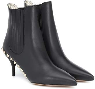 Valentino Jaw Studs 70 leather ankle boots