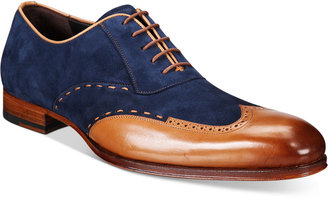 Mezlan Men's Paganini Wingtip Mixed Media Oxfords Men's Shoes $275 thestylecure.com