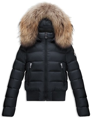 Moncler Girls' Alberta Bomber Puffer Jacket - Sizes 8-14 $795 thestylecure.com