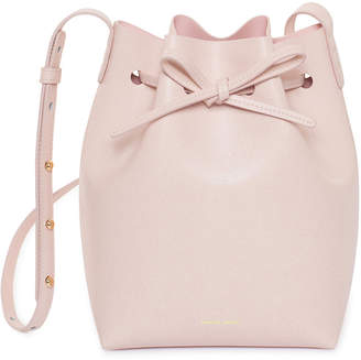 Mansur Gavriel Saffiano Mini Bucket Bag