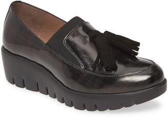 Wonders C-3342-L Tassel Wedge Loafer