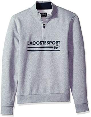 Lacoste Men's Long Sleeve Graphic with Ribbing Detail Sweatshirt