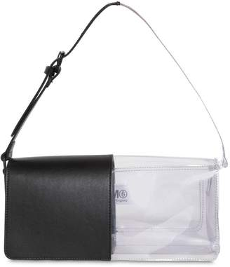 MM6 MAISON MARGIELA Leather & Pvc Shoulder Bag