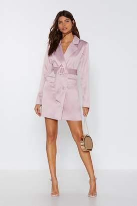 Nasty Gal Womens Powers That Be Blazer Dress - Purple - 8