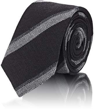 Alexander Olch Men's Diagonal-Striped Wool Necktie