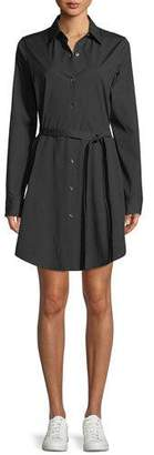 Theory Long-Sleeve Stretch-Cotton Clean Shirtdress