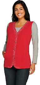 Quacker Factory DreamJeannes Sparkle ButtonFront Vest