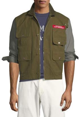 HUMAN MADE Men's Colorblock Twill Hunting Jacket