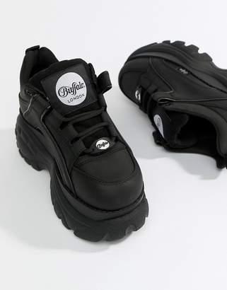 Buffalo David Bitton Classic Lowtop Platform Sneakers In Black