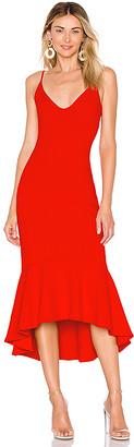 Susana Monaco Ruffle Hem Dress