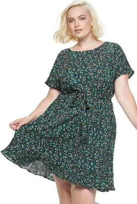 Popsugar Plus Size POPSUGAR Print Tie-Waist Dress