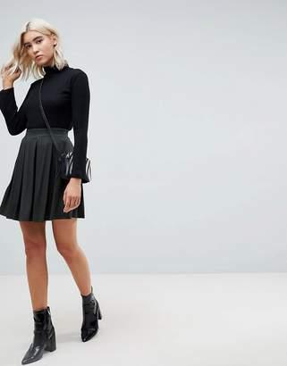 Asos DESIGN Mini Skater Skirt with Box Pleats