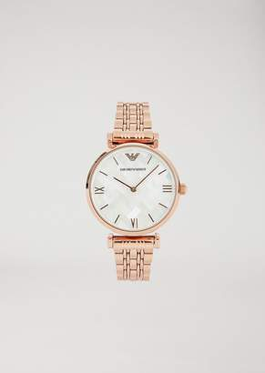 Emporio Armani 11110 Rose Gold-Plated Stainless Steel Watch