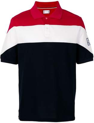 Moncler Gamme Bleu striped polo shirt