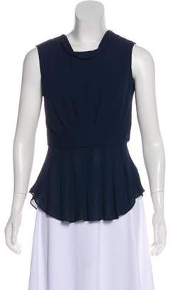 Rebecca Taylor Sleeveless Pleated Top