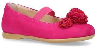 Aquazzura Suede Desert Rose Ballet Flats