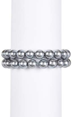 Nordstrom Rack Imitation Pearl Stretch Bracelet - Set of 2